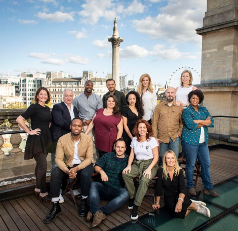 Come From Away West End cast on the roof of Canada House Credit Helen Maybanks.JPG