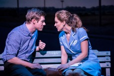 WAITRESS by Bareilles ; Directed by Diane Paulus ; Design by Scott Pask ; Lighting by Christopher Akerlind ; at The Adelphi Theatre ; February 7 2019 ; Credit : Johan Persson