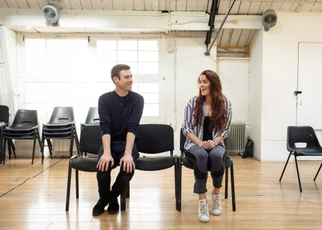 David-Hunter-and-Lucie-Jones-in-rehearsal-for-Waitress.-Credit-Helen-Maybanks