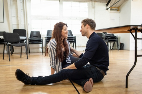 Lucie-Jones-and-David-Hunter-in-rehearsal-for-Waitress.-Credit-Helen-Maybanks-2