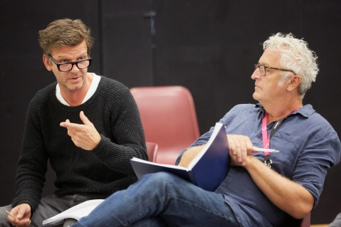 Jason Hughes and Ed Thomas in rehearsals for On Bear Ridge at NTW and Royal Court Theatre Ed Thomas WRITER/CO-DIRECTOR Vicky Featherstone CO-DIRECTOR Cai Dyfan DESIGNER Elliot Griggs LIGHTING DESIGNER Mike Beer SOUND DESIGNER John Hardy COMPOSER