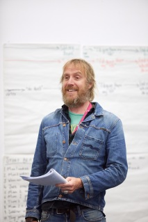 Rhys Ifans in rehearsals for On Bear Ridge at NTW and Royal Court Theatre Ed Thomas WRITER/CO-DIRECTOR Vicky Featherstone CO-DIRECTOR Cai Dyfan DESIGNER Elliot Griggs LIGHTING DESIGNER Mike Beer SOUND DESIGNER John Hardy COMPOSER